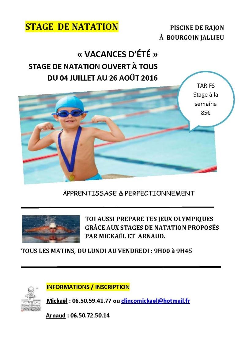 Stage de natation cet été à Bourgoin-Jallieu Stage_12