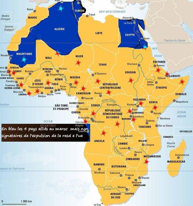 L'Egypte poignarde le Maraoc , ton ennemi n'est pas toujours celui que l'on croit, voici les vrais amis du Maroc Afriqu10