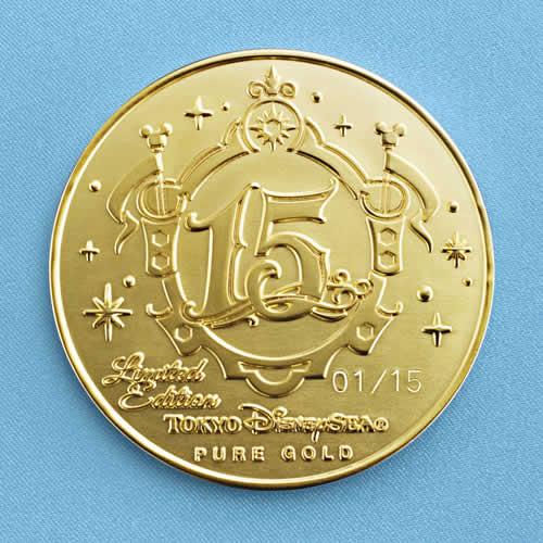 "[Tokyo DisneySea] : 15th anniversary ""The Year of Wishes"" merchandising Gold_m15"