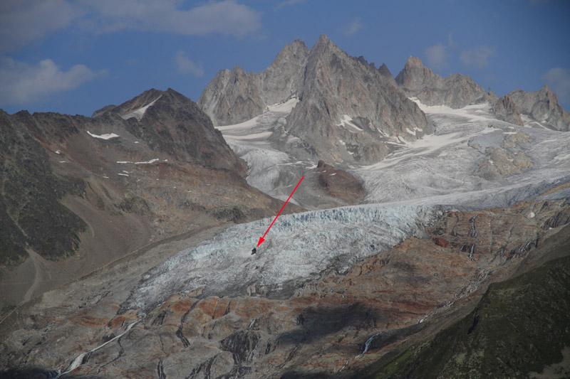 Le glacier du Tour. Trou-t10