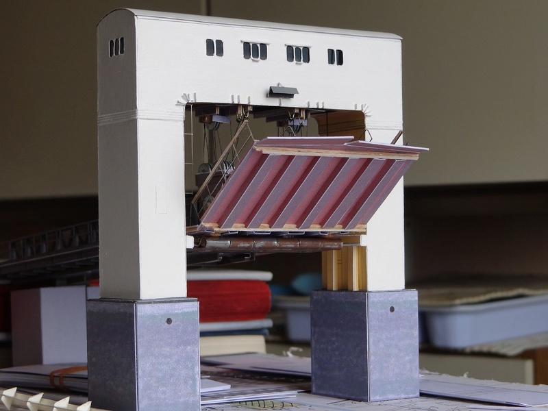 Maquette de l'embarcadère de Mindin (1960/1974) échelle 1/100  Dsc00880
