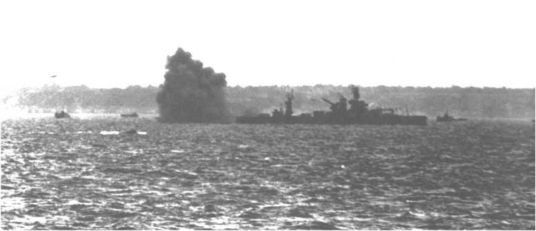 3 - Les forces navales et les bombardements navals prévus sur Omaha Beach le D DAY 0513-l10