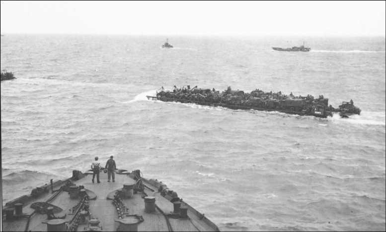3 - Les forces navales et les bombardements navals prévus sur Omaha Beach le D DAY 0601-l10
