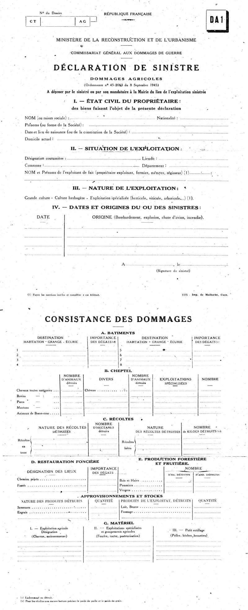 5 - Le déminage (Vierville sur Mer) 1945ml10