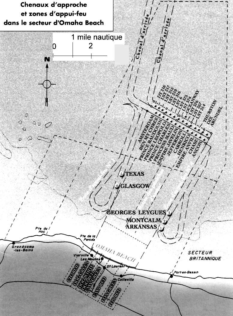 3 - Les forces navales et les bombardements navals prévus sur Omaha Beach le D DAY 22_44510