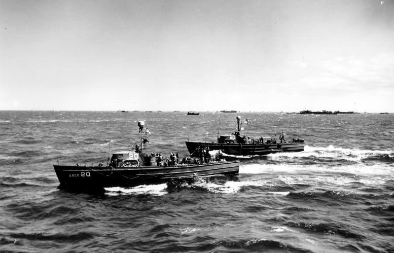 3 - Les forces navales et les bombardements navals prévus sur Omaha Beach le D DAY 38176210