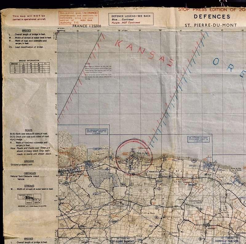 3 - Les forces navales et les bombardements navals prévus sur Omaha Beach le D DAY Carte-13