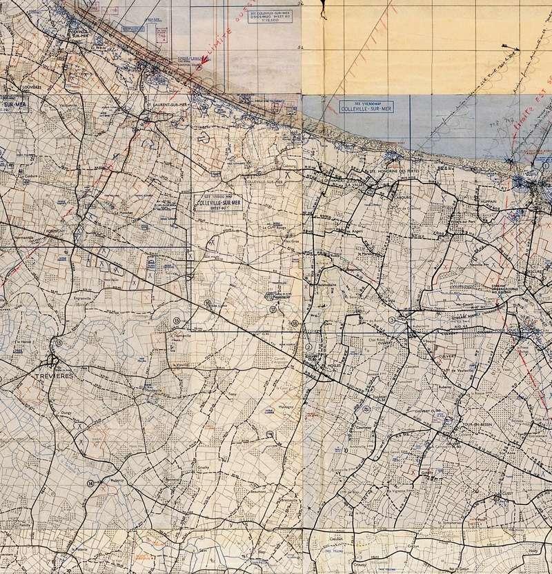 3 - Les forces navales et les bombardements navals prévus sur Omaha Beach le D DAY Carte-14