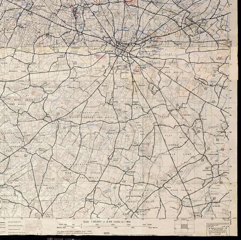 3 - Les forces navales et les bombardements navals prévus sur Omaha Beach le D DAY Carte-16