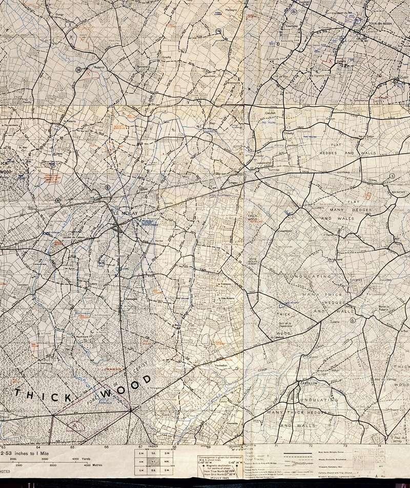 3 - Les forces navales et les bombardements navals prévus sur Omaha Beach le D DAY Carte-17