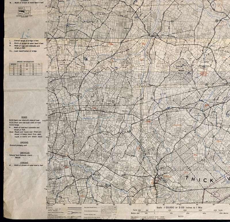 3 - Les forces navales et les bombardements navals prévus sur Omaha Beach le D DAY Carte-18