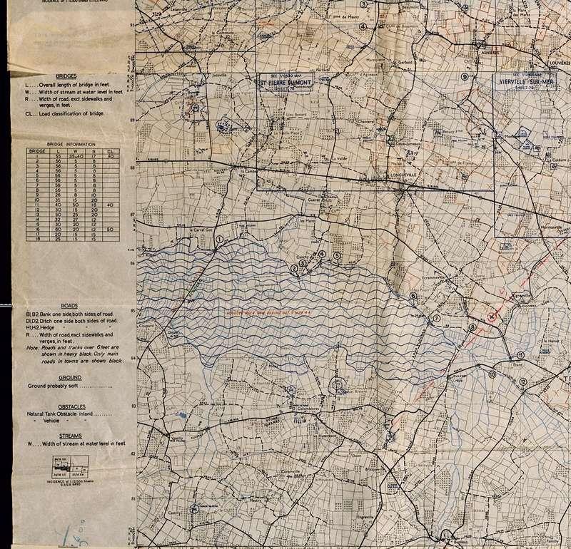 3 - Les forces navales et les bombardements navals prévus sur Omaha Beach le D DAY Carte-19