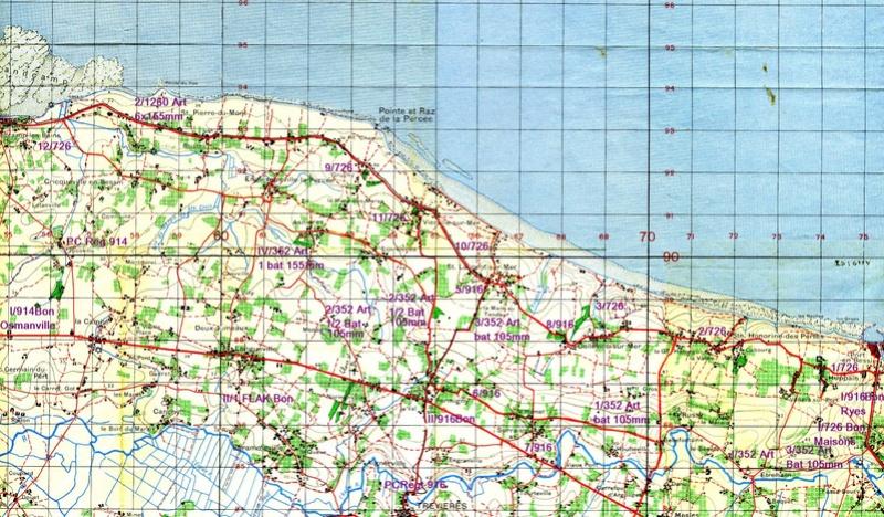 1 - Les plans de débarquement pour le Jour J Carteu12