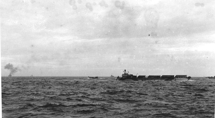 3 - Les forces navales et les bombardements navals prévus sur Omaha Beach le D DAY G2524810