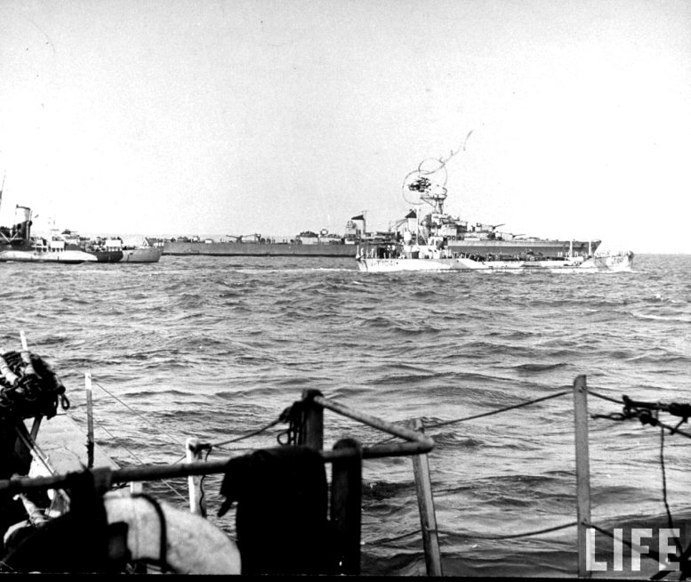3 - Les forces navales et les bombardements navals prévus sur Omaha Beach le D DAY Gloumo10