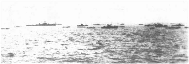 3 - Les forces navales et les bombardements navals prévus sur Omaha Beach le D DAY Ld169-10