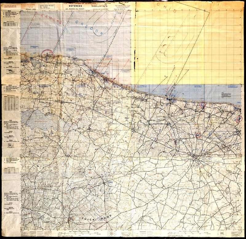 3 - Les forces navales et les bombardements navals prévus sur Omaha Beach le D DAY Montca10