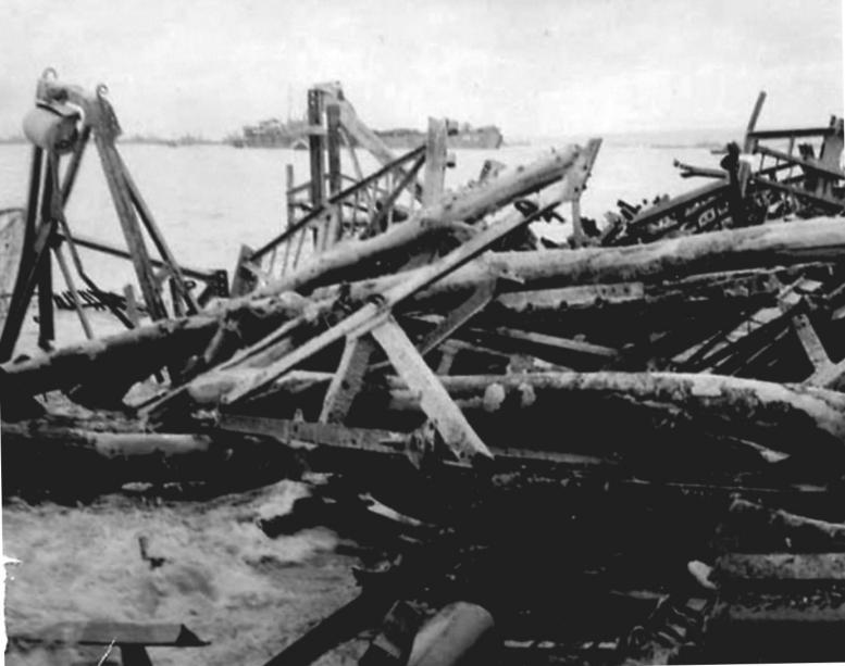 2 - Les obstacles sur la plage d'Omaha à Vierville Obstac10