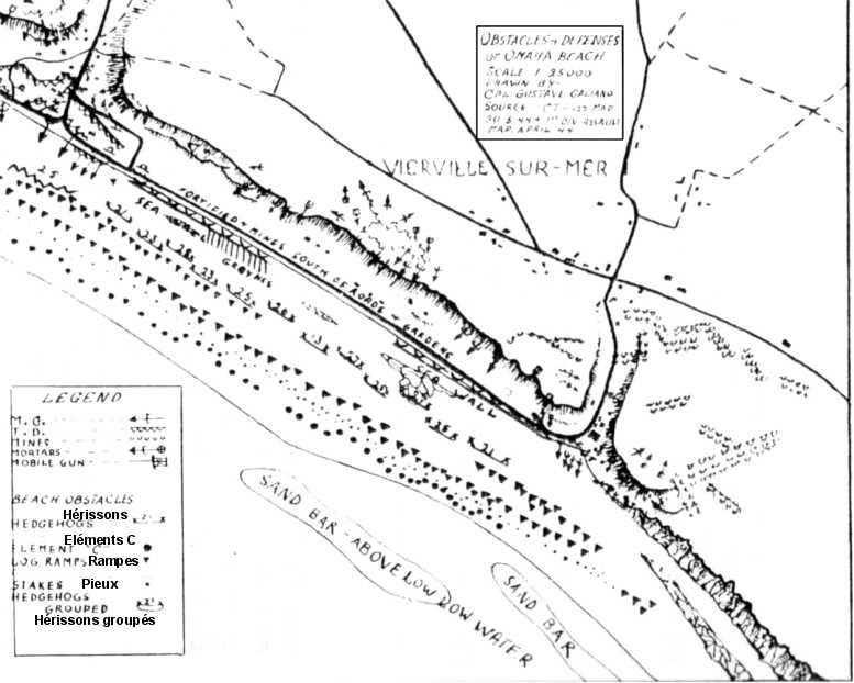 2 - Les obstacles sur la plage d'Omaha à Vierville Obstac11