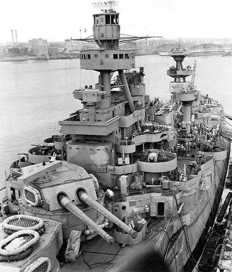 3 - Les forces navales et les bombardements navals prévus sur Omaha Beach le D DAY Ussark10