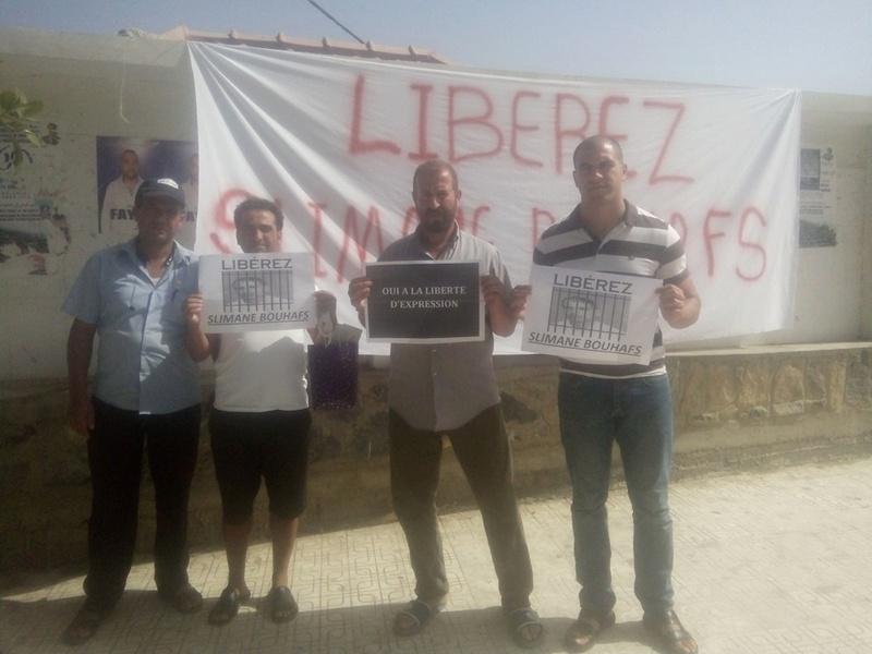 Rassemblement pour exiger la libération immédiate de Slimane Bouhafs à Aokas  1114