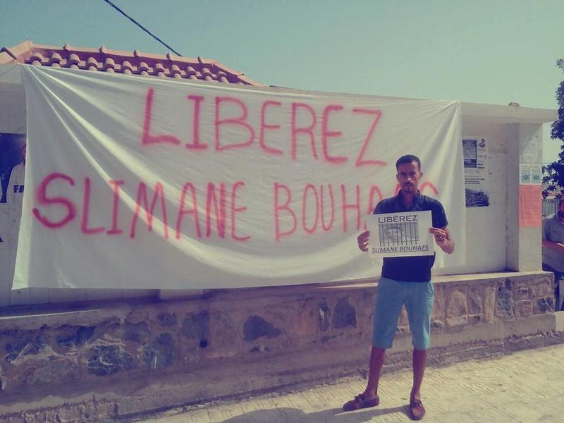 Rassemblement pour exiger la libération immédiate de Slimane Bouhafs à Aokas  1116