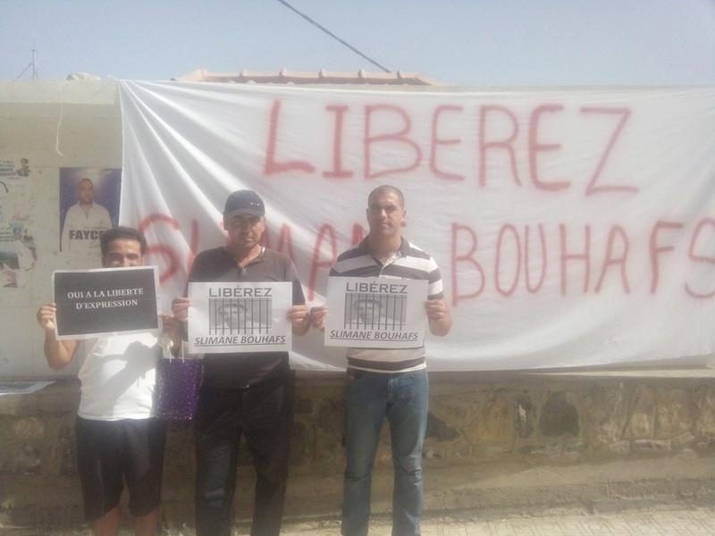 Rassemblement pour exiger la libération immédiate de Slimane Bouhafs à Aokas  294