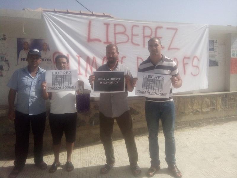 Rassemblement pour exiger la libération immédiate de Slimane Bouhafs à Aokas  323