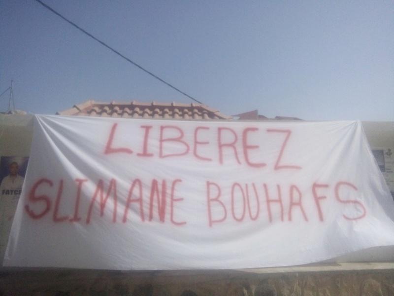 Rassemblement pour exiger la libération immédiate de Slimane Bouhafs à Aokas  911