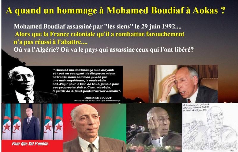 A quand un hommage à Mohamed Boudiaf à Aokas ?  Hommag10