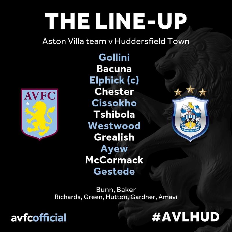 Aston Villa V Huddersfield Town: Tuesday 16th August 19:45 Cp_67w10