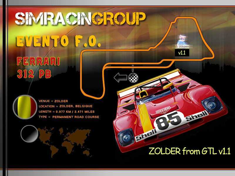 [SRG]Rfactor- 10 ° EVENT FULL OPEN - FERRARI 312 PB (TEST RACE)  Zolder10