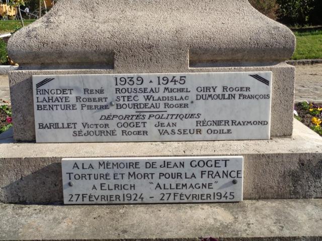 Monument aux morts 39 45 Nibelle Monume11