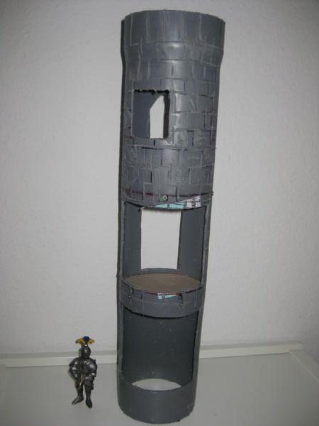 Regenabflussrohr wird zum Turm 110