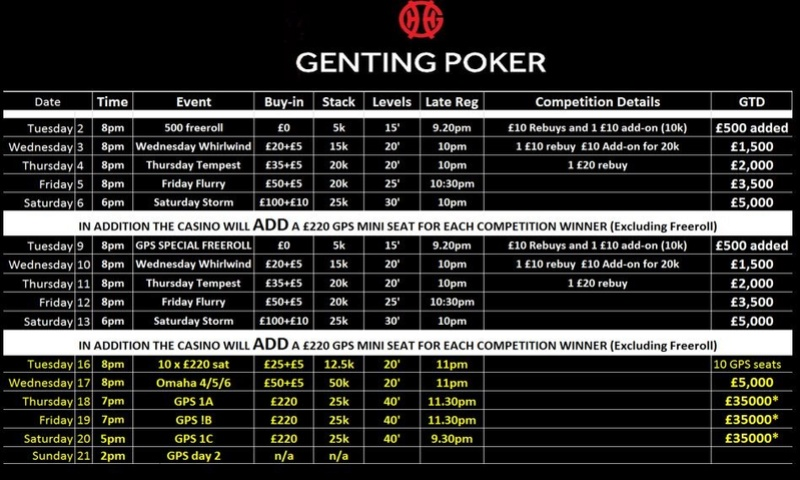 Genting Resortsworld - Current Schedule Gic10