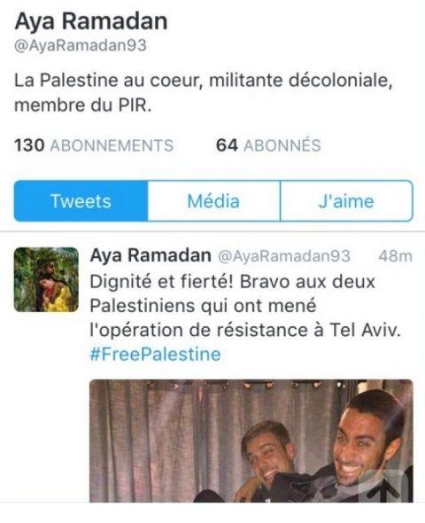 """Une """"enseignante de Noisy-le-sec"""" militante du Parti des Indigènes de la République Tweet10"""