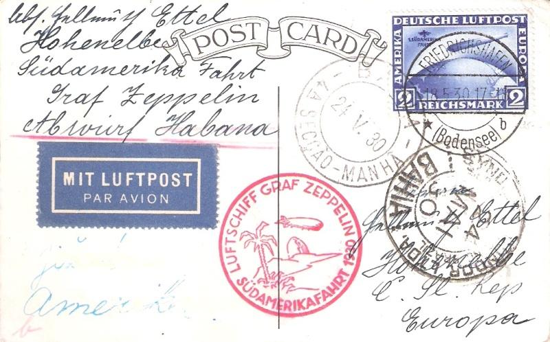 Südamerikafahrt 1930, Post nach (Salvador de) Bahia Bahia_10