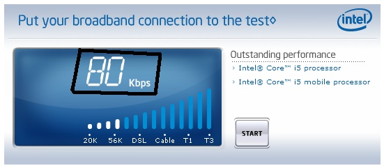 قياس سرعة الانترنت الحقيقية التي عندك من Intel  00000011