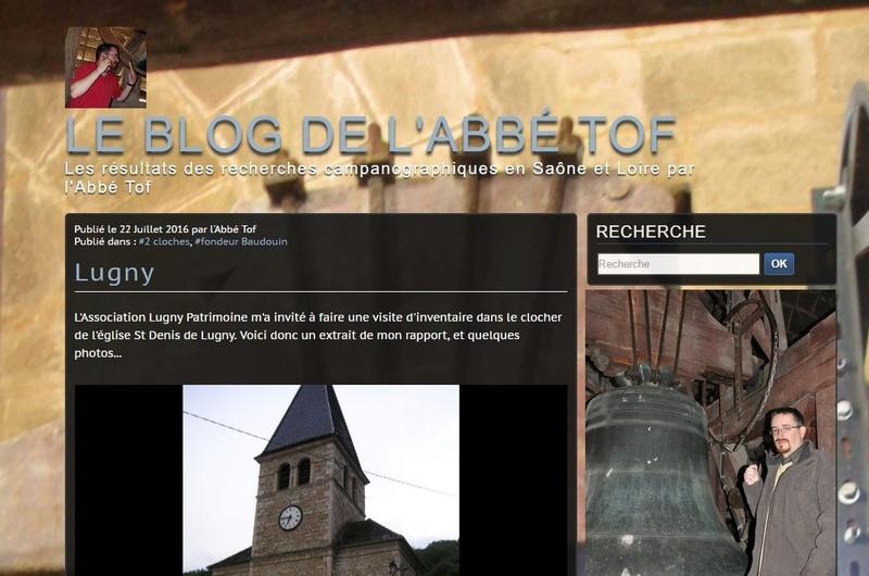 LUGNY - PATRIMONE Au chevet des cloches de l'église  Le père Lagrange a mené une étude sur les deux cloches de l'église de Saint-Denis dans le cadre d'une expertise exhaustive menée pour la Société française de campanologie. Captur14