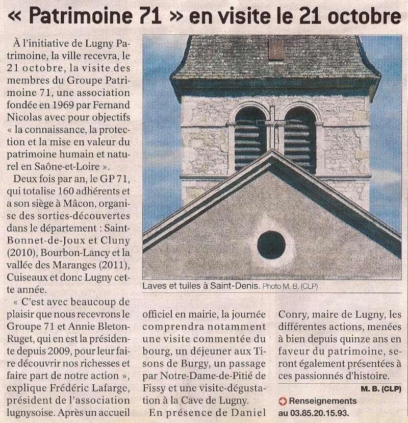 Groupe Patrimoines 71  Lugny le 21 octobre Le_gro10