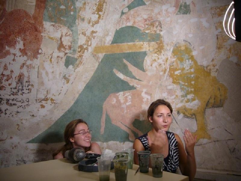 Le chantier de restauration des peintures murales de l'église de Buffières (août 2012) P1150134
