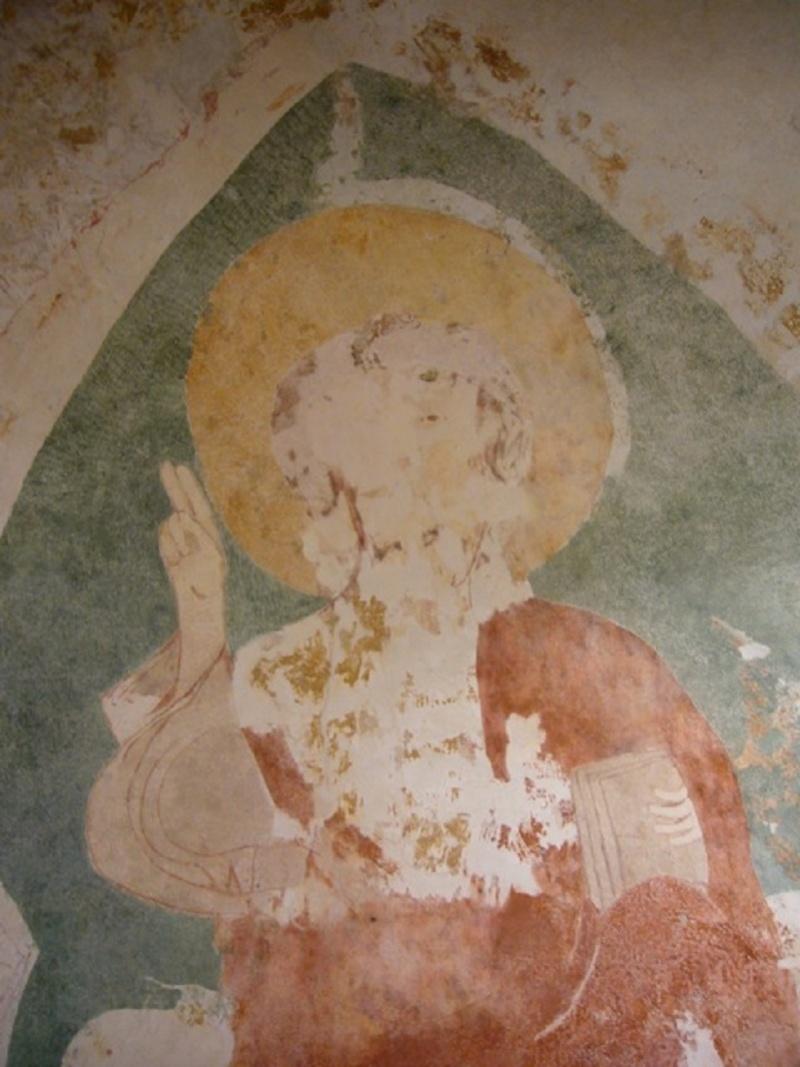 Le chantier de restauration des peintures murales de l'église de Buffières (août 2012) P1150137