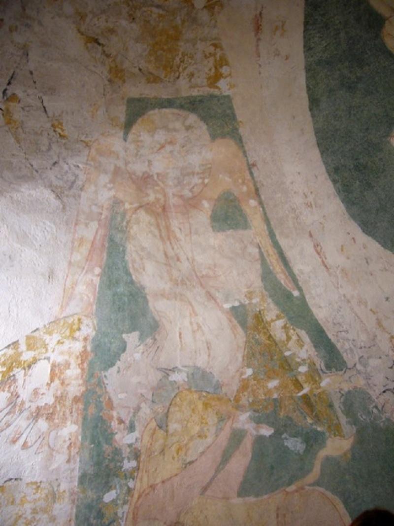 Le chantier de restauration des peintures murales de l'église de Buffières (août 2012) P1150138