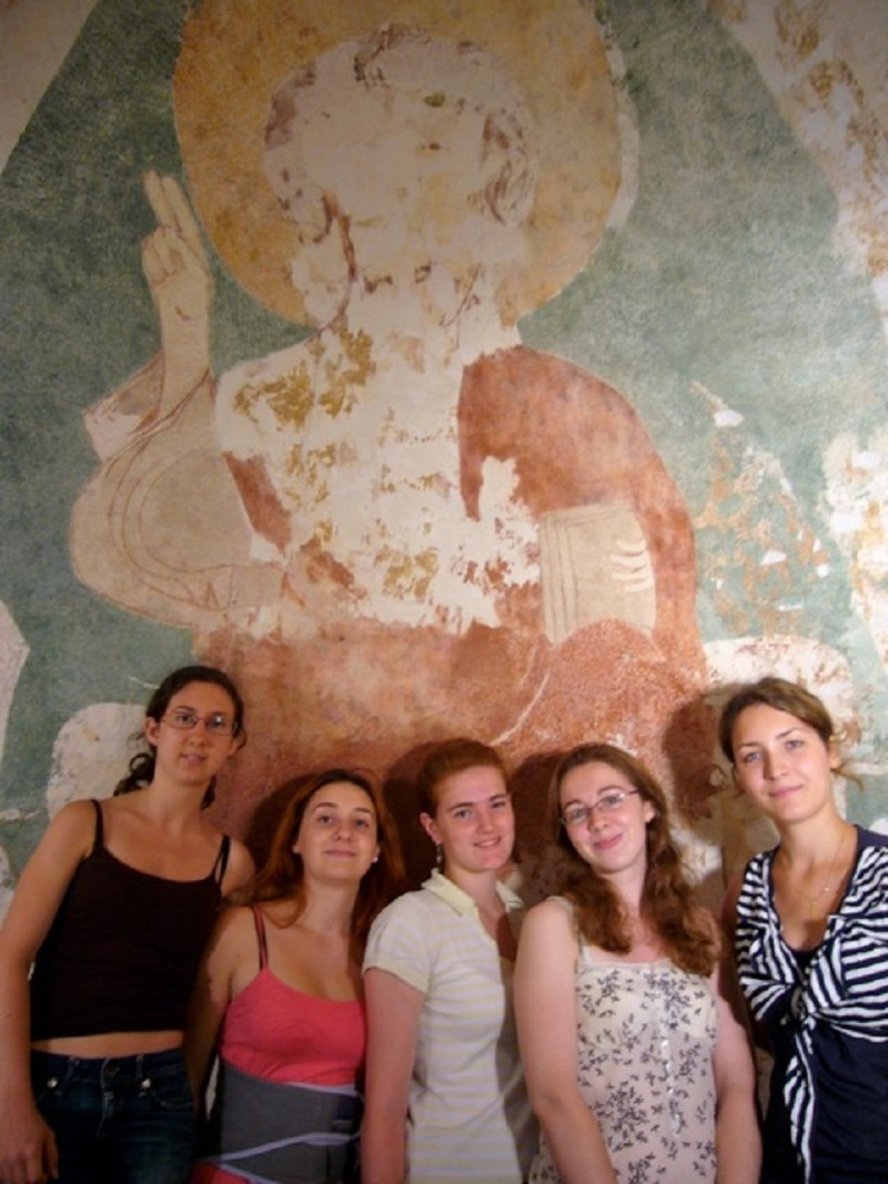 Le chantier de restauration des peintures murales de l'église de Buffières (août 2012) P1150139
