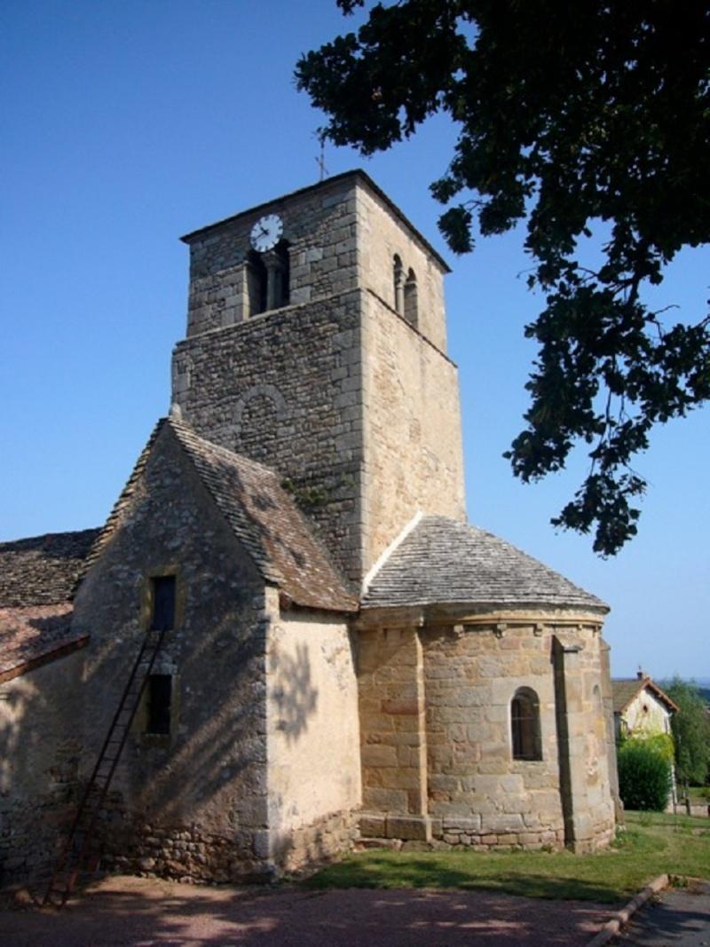 Le chantier de restauration des peintures murales de l'église de Buffières (août 2012) P1150211