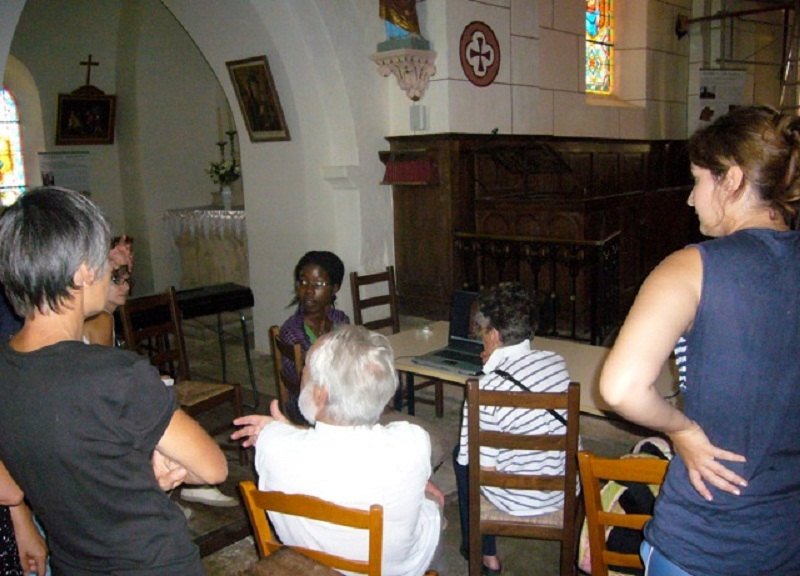 Le chantier de restauration des peintures murales de l'église de Buffières (août 2012) P1150214