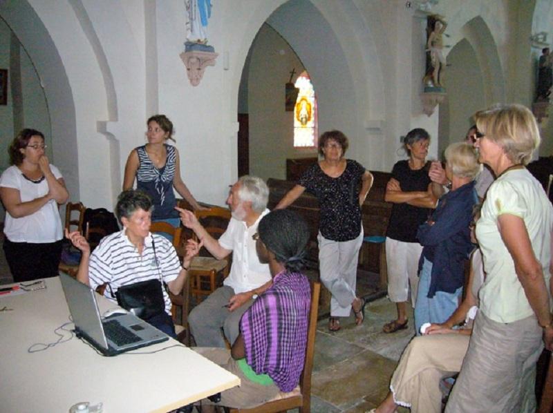 Le chantier de restauration des peintures murales de l'église de Buffières (août 2012) P1150217