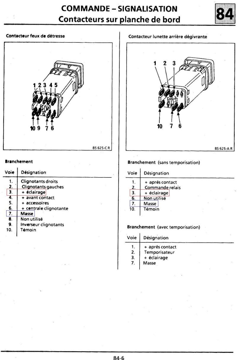 Eclairage boutons habitacle Turbo DX 6_bis10