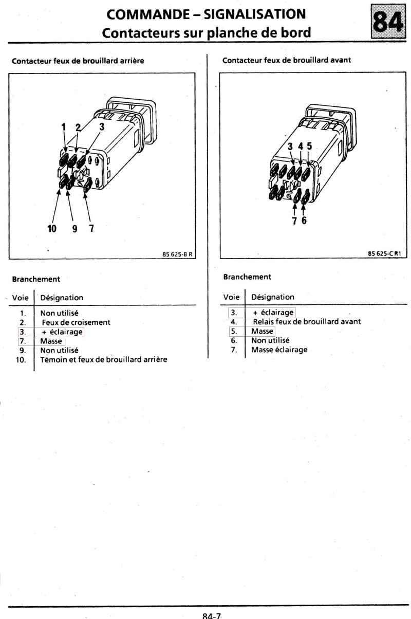 Eclairage boutons habitacle Turbo DX 7_bis10