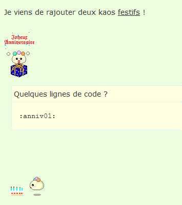 (2199) Balise code incompatible avec codes des émoticônes Smilie10